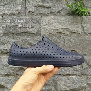 Giày nhựa đi mưa nam nữ - chất nhựa xốp siêu nhẹ, không thấm nước - Màu xanh navy thumbnail