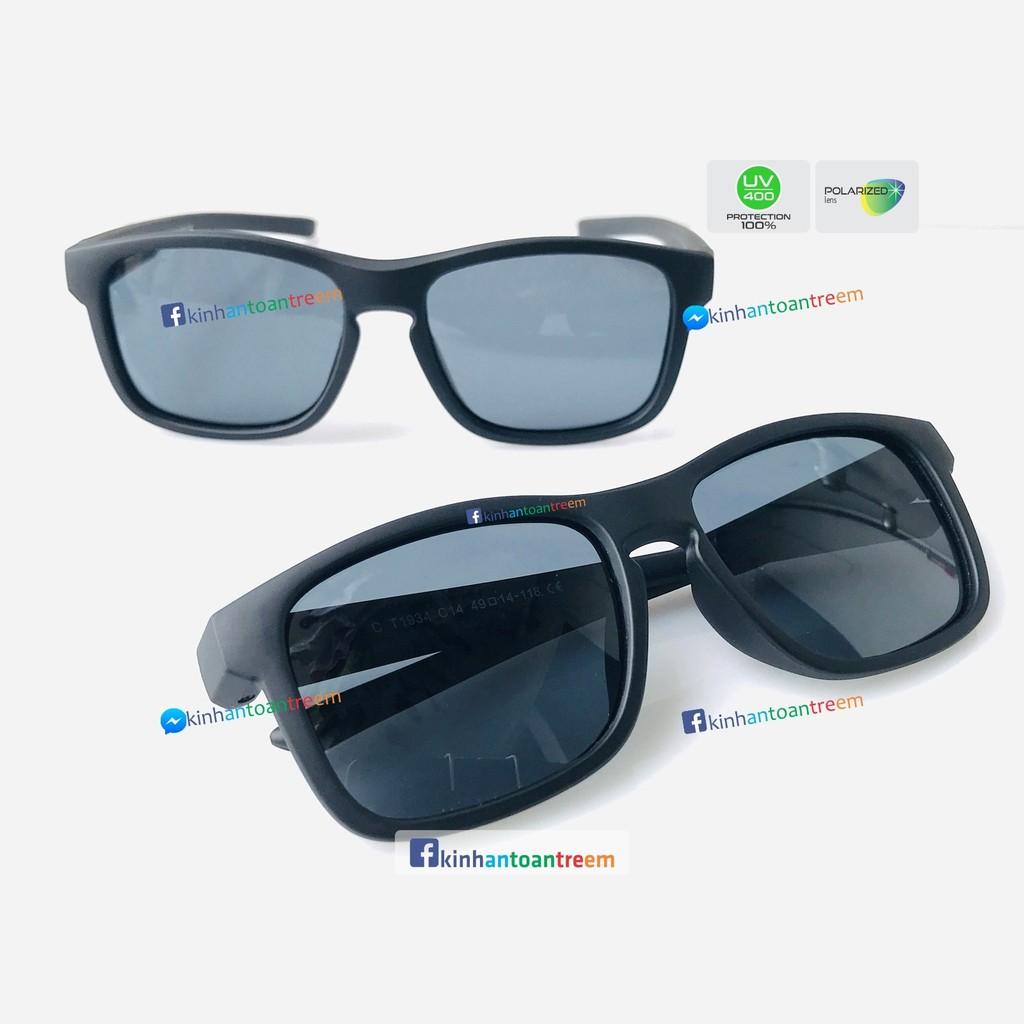 Kính trẻ em KAT-T1934 mắt kính an toàn chống UV400 tròng mắt phân cực chống chói lóa gọng siêu dẻo...