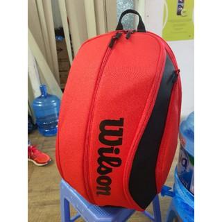 Balo Tennis Wilson DNA Đỏ - Túi Đựng Vợt Tennis Wilson Chính Hãng thumbnail