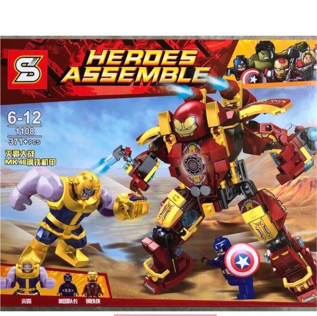 Lego super hero SY1108- Cuộc chiến đấu của Người sắt với Thanos - 9933921 , 1321325330 , 322_1321325330 , 250000 , Lego-super-hero-SY1108-Cuoc-chien-dau-cua-Nguoi-sat-voi-Thanos-322_1321325330 , shopee.vn , Lego super hero SY1108- Cuộc chiến đấu của Người sắt với Thanos