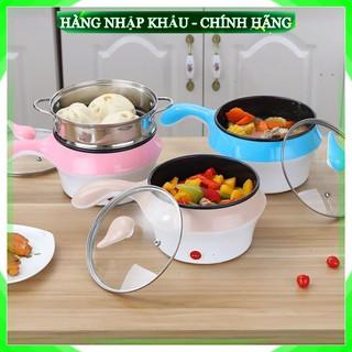 [FreeShip – LOẠI 1] Ca nấu mì kiêm nồi lẩu mini chống dính kèm xừng hấp Siêu tiện lợi, kiểu dáng sang trọng