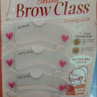 Khuôn kẻ mày (3 khuôn) mini brow class, Bộ 3 khuôn kẻ lông mày