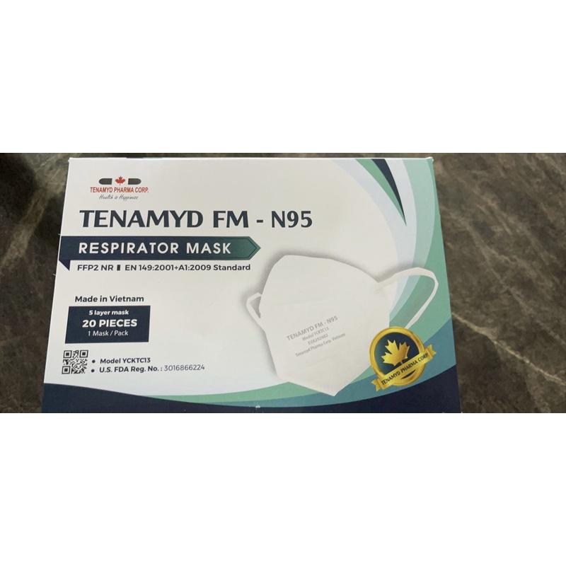 Khẩu Trang Cao Cấp N95 Tenamyd FM Hộp 20 cái