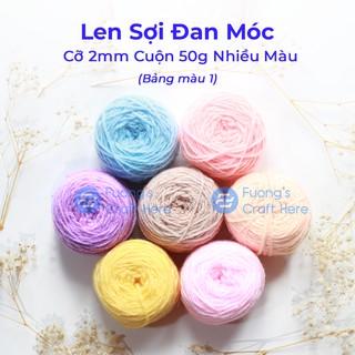 Len Sợi Đan Móc Cỡ 2mm Cuộn 50 gram (Bảng Màu 1) thumbnail