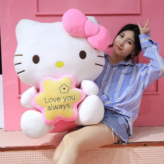 [XẢ HÀNG] Gấu Bông Hello kitty CUTE Cho Bé - Thú Bông Nhập Khẩu Cao Cấp - Chiều Cao 68cm