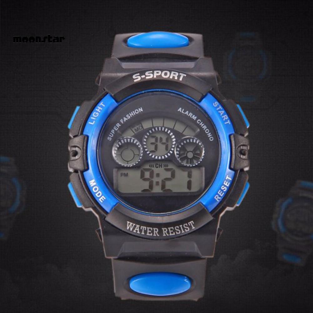 Đồng hồ thể thao chống nước có đèn LED hiển thị ngày tháng cho bé