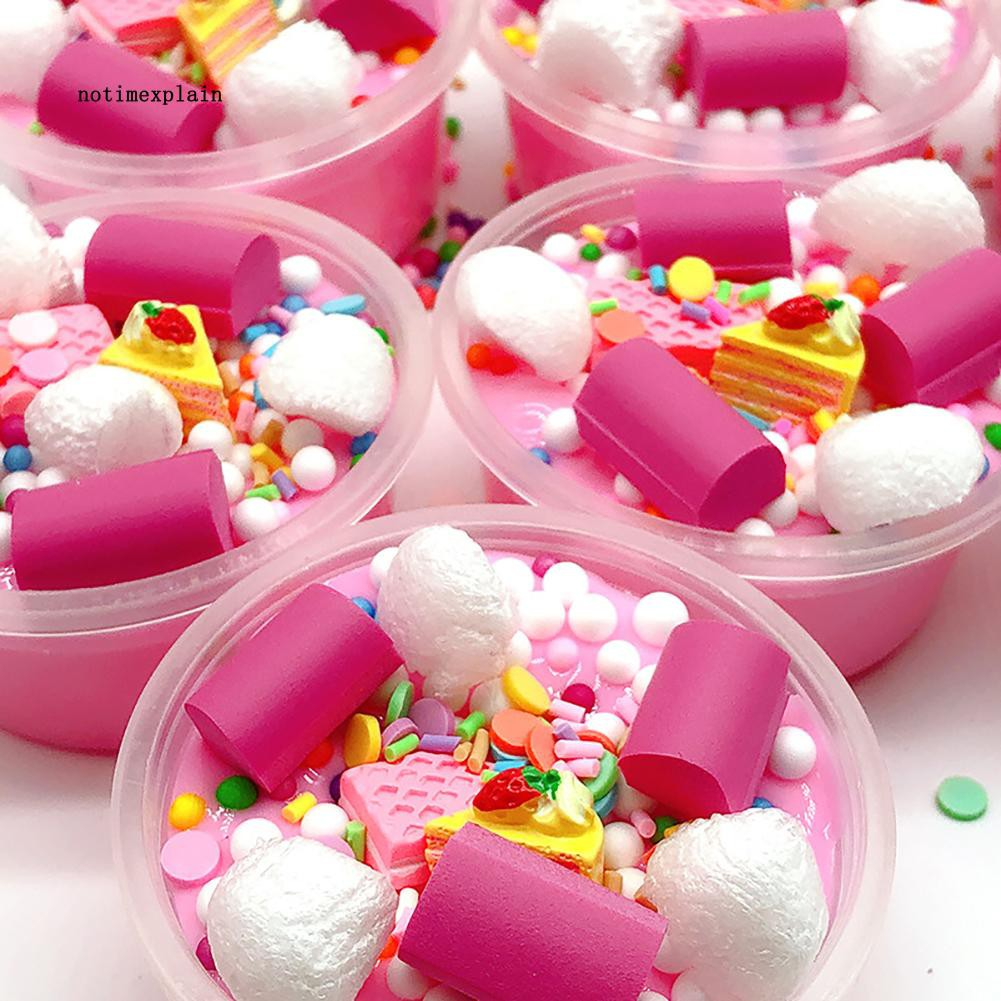 NAME DIY Cake Beads Soft Non Sticky Putty Mud Plasticine Slime Anti-stress Kids Toy