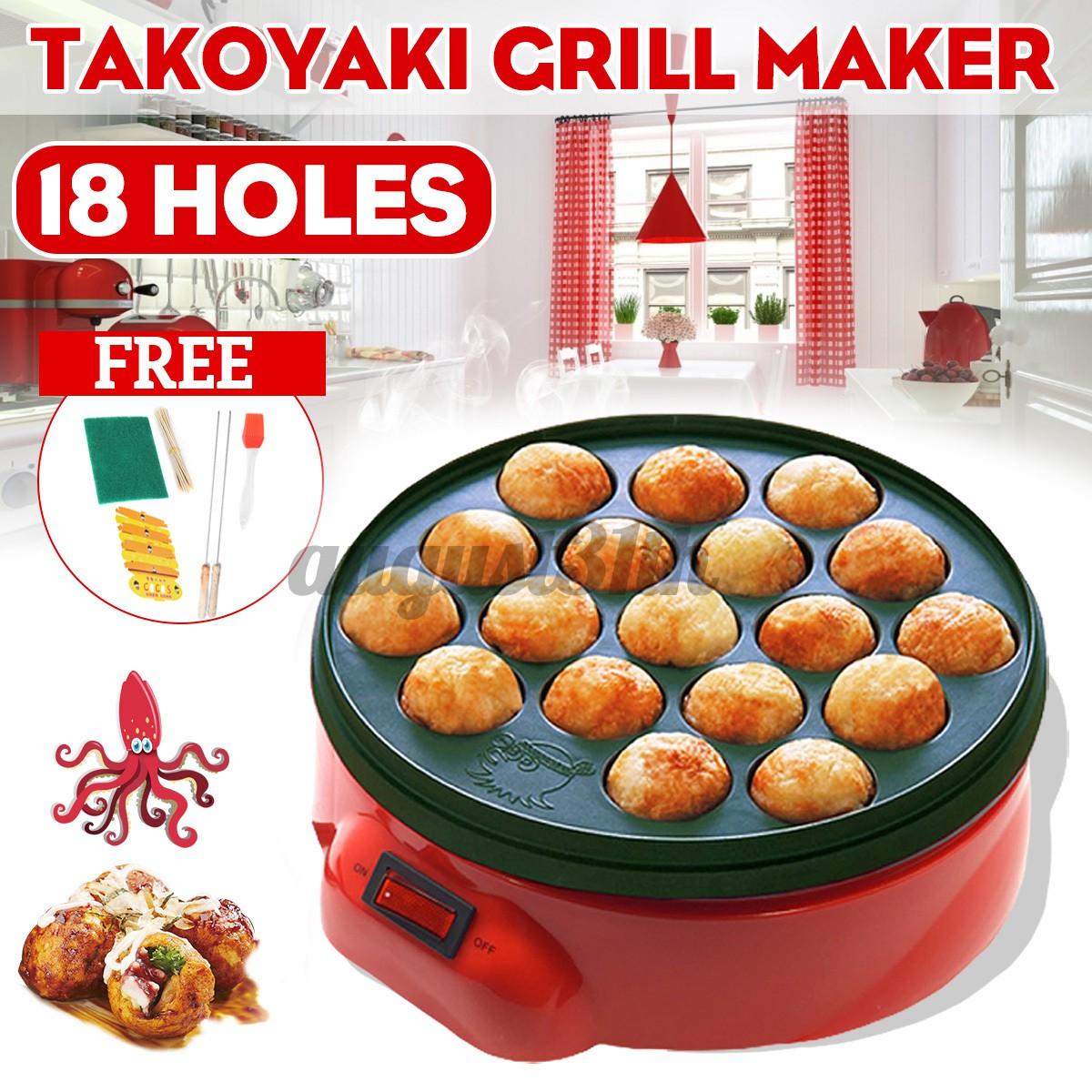 Lò nướng làm bánh takoyaki tiện dụng