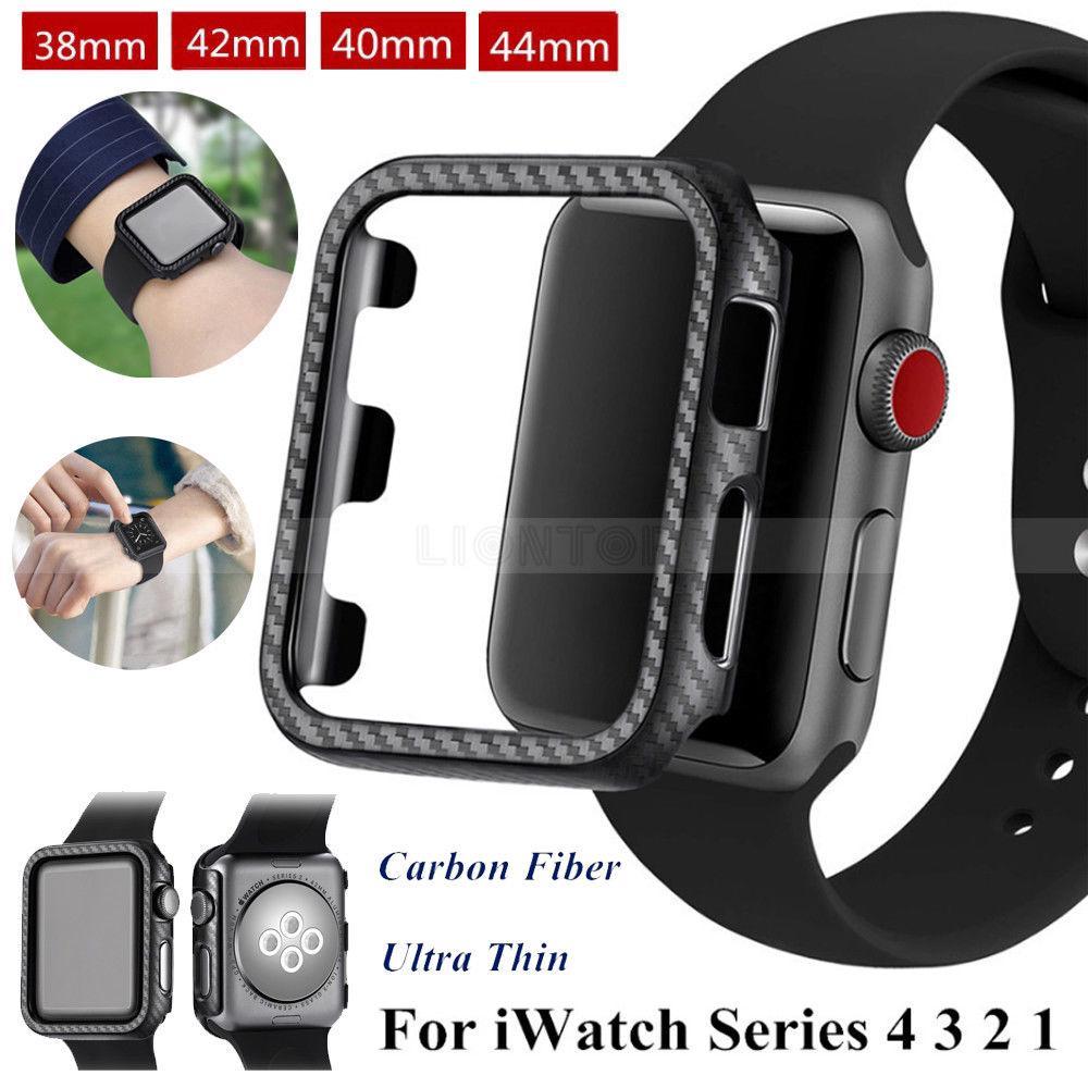 Vỏ bảo vệ bằng sợi cacbon cho đồng hồ thông minh Apple Watch Series 4 3 2 1 38mm / 40mm / 42mm / 44mm