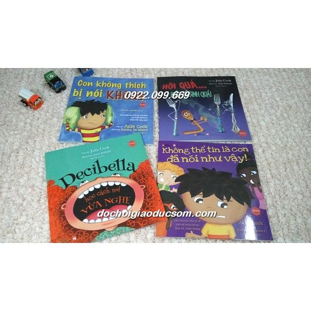 Dạy Trẻ Cách Ứng Xử - Combo 4 Cuốn Song Ngữ (Dành Cho Trẻ 3 - 8 Tuổi)