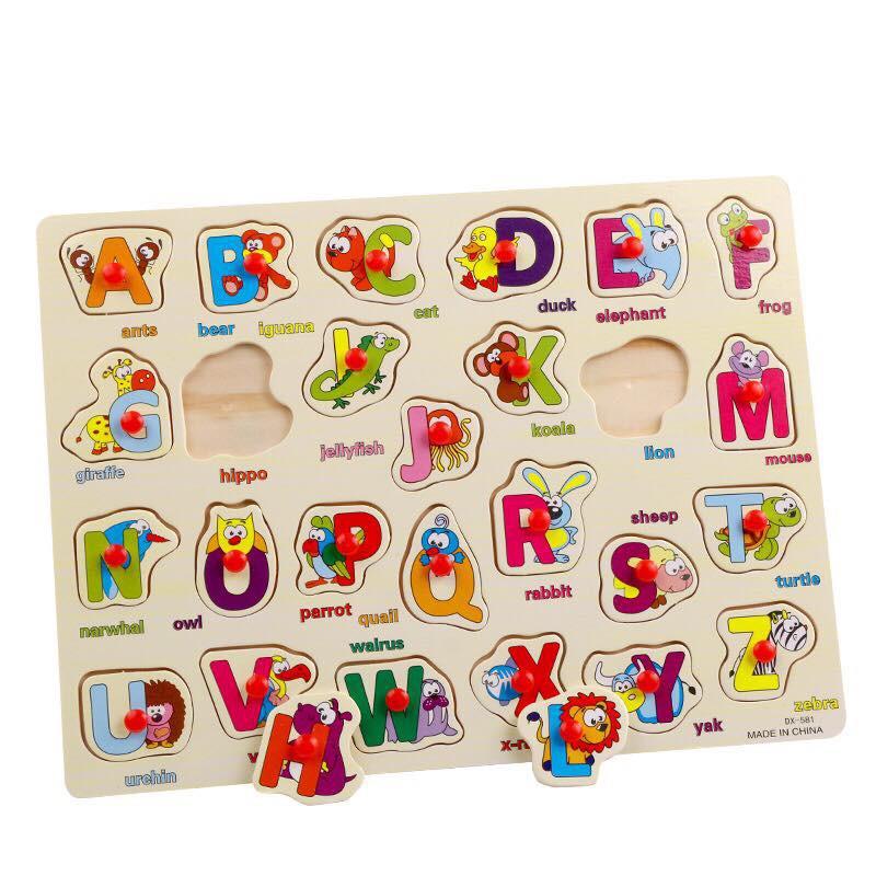 Bảng Học Chữ Cái Tiếng Anh Tên Gọi Các Loại Động Vật Núm Nhựa DX581