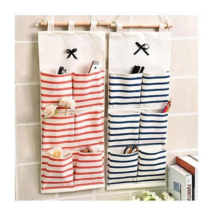 Túi đựng đồ treo đồ treo tường loại mới 6 ngăn tiện ích giúp bạn sắp xếp đồ lót, đồ dùng gia đình tiết kiệm diện tích