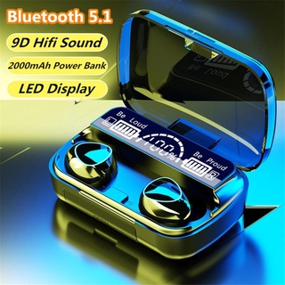 【COD】Bluetooth Không Dây Tai Nghe 5.1 Màn Hình LED IPX7 Tai Nghe Nhét Tai Không Thấm Nước 9D Điều Khiển Bằng Cảm Ứng Tai Nghe Thể Thao Hai Tai Tai Nghe Cho iPhone Android