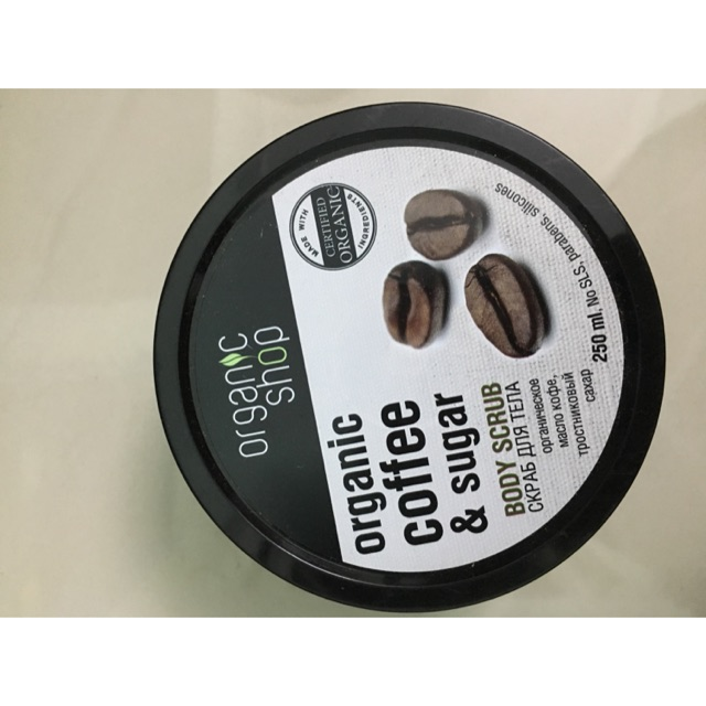 ???TẨY DA CHẾT TOÀN THÂN ORGANIC COFFEE & SUGAR BODY SCRUB