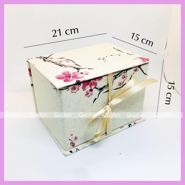 (15x15x21cm) Hộp Quà Sinh Nhật, Hộp Quà Tặng Valentine, Hộp Quà Handmade