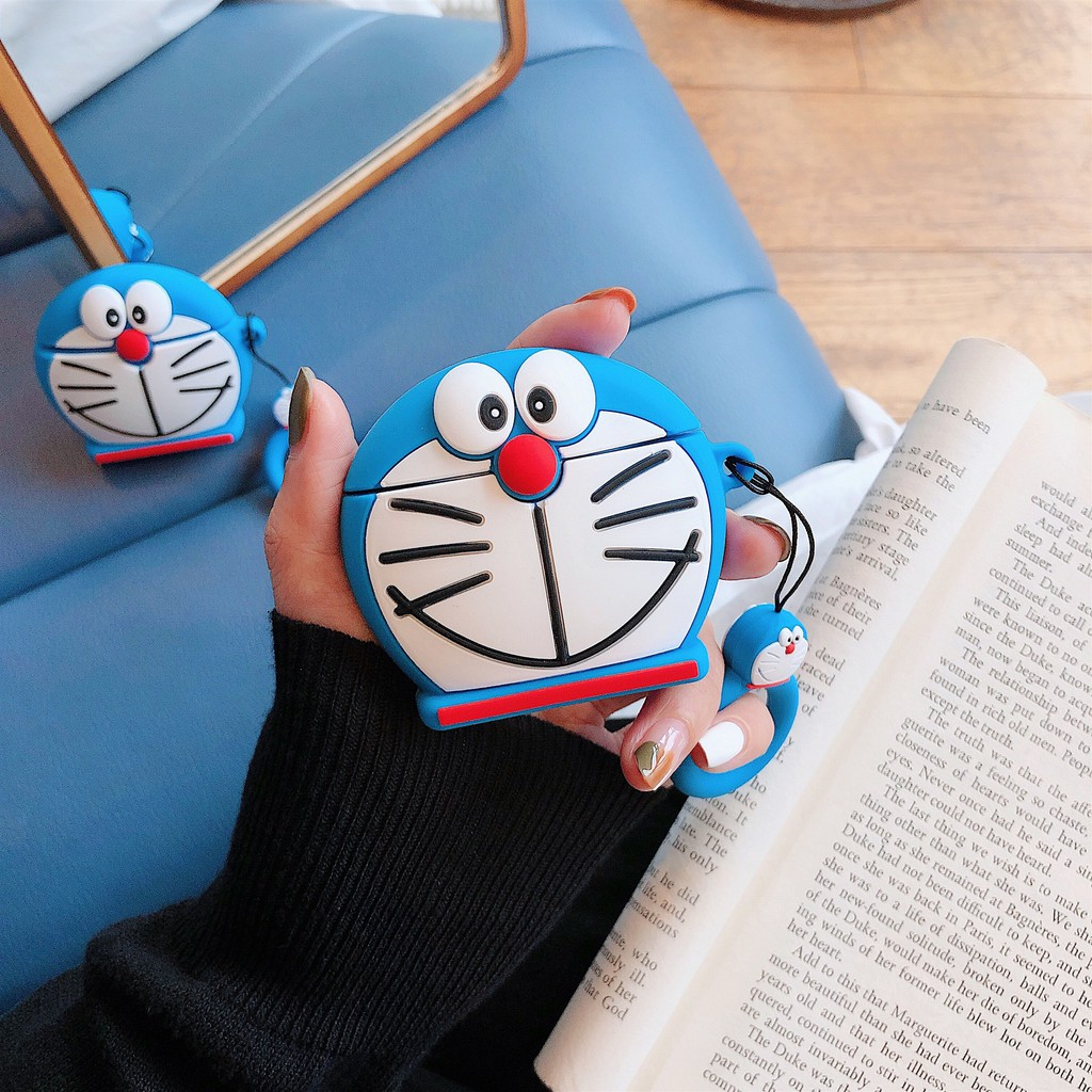 Doraemon Airpods 1/2 generation universal wireless Bluetooth headset stereo silicone sleeve