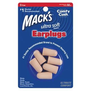 Hộp 3 đôi nút bịt tai chống ồn Mack s Soft Foam (Siêu mềm)