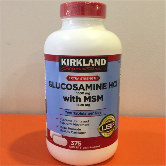 [Mẫu Mới Có Bill Costco] Glucosamine HCL 1500 mg With MSM 1500mg (375v) [Date : 2021]