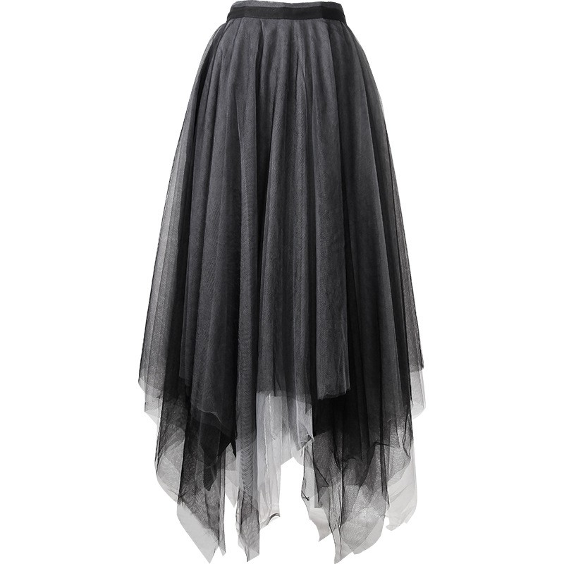 [order] Chân váy phong cách punk lưới cạp cao nhiều lớp váy pettiskirt lưới váy nữ thiết kế