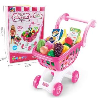 Bộ đồ chơi xe đẩy siêu thị cho bé nhựa ABS Cao Cấp Siêu To Khổng Lồ