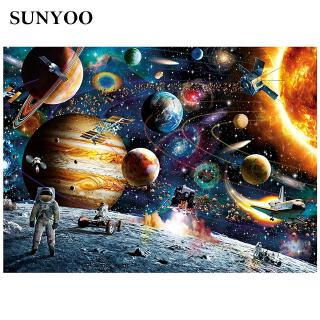 sunyoo 1000 Pieces Puzzles Decompression Toys Puzzle Decompression Toys Planets in Space For Adults Kids Amazing