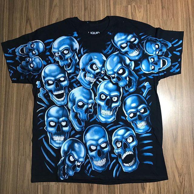 เสื้อวง Blue skulls OVP มือ 1 ลิขสิทธิ์แท้