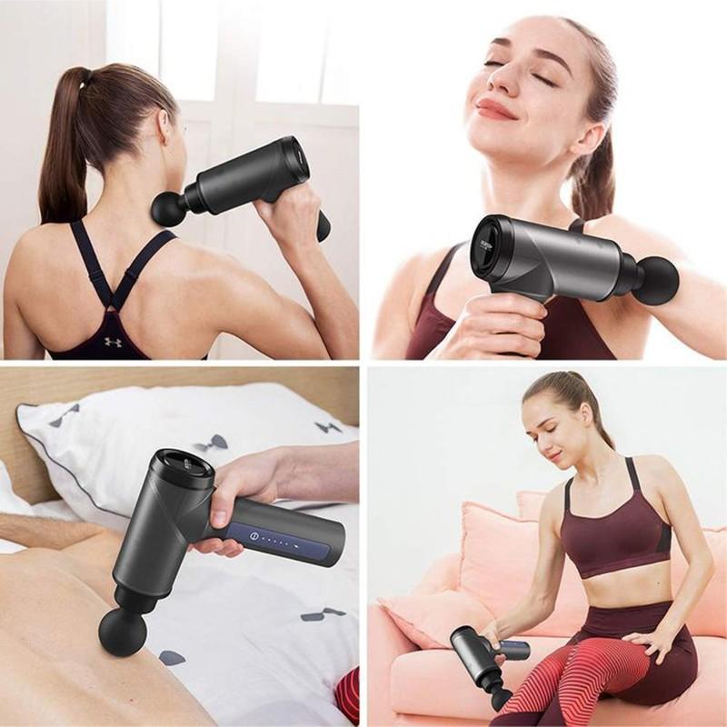(Xả Kho) Súng Massage FASCIAL GUN - Massage Cơ Bắp Tác Động Sâu Và Mạnh Mẽ