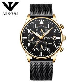 (Siêu Sale) Đồng hồ nam NIBOSI chính hãng cao cấp dây lưới chạy full 6 kim hàng cực tốt full box (hàng sale) thumbnail