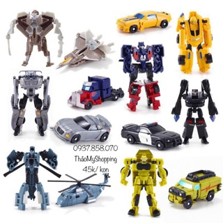 Bộ 9 xe ô tô đồ chơi biến hình robot Transformers