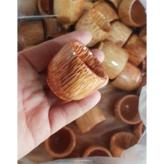 Chung ly chén uống rượu gỗ dừa -Mỹ nghệ dừa Bến Tre