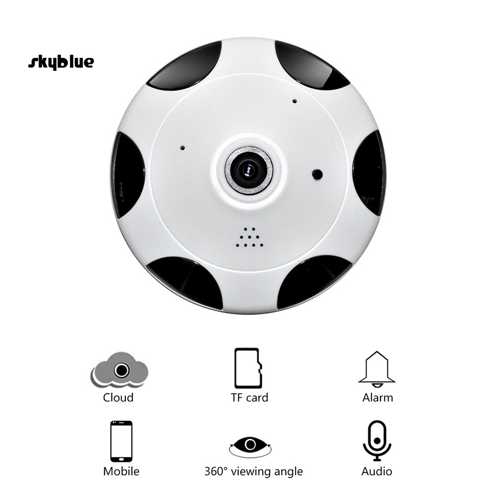 SKBL WiFi 3.0MP Indoor Night Vision Two-way Audio 360 Degree Panorama Security Camera