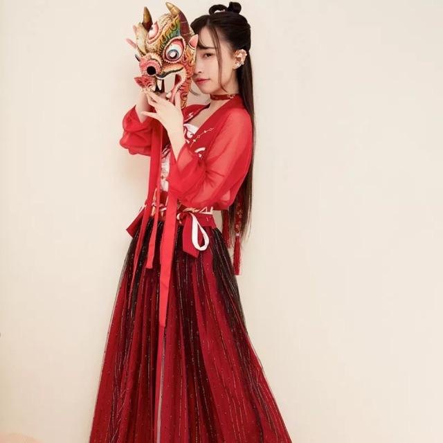 Hán phục cổ trang Bỉ Ngạn Hoa dáng ngắn và dài