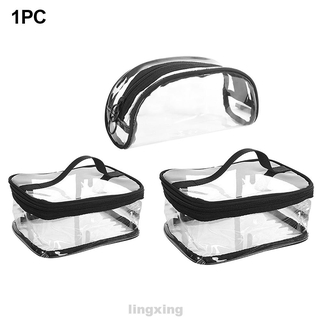 Makeup Transparent Waterproof Cosmetic PVC Storage Travel Case Wash