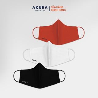 Khẩu trang thời trang 3 lớp kháng khuẩn chống tia UV AKUBA mềm mại, lót kháng khuẩn lưới, điều hòa không khí tốt 02 thumbnail