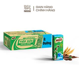 """[Mã FMCGMALL -8% ĐH 250k] Thùng 48 hộp thức uống lúa mạch uống liền Nestlé MILO ít đường 48x180ml giá chỉ còn <strong class=""""price"""">29.900.000.000đ</strong>"""