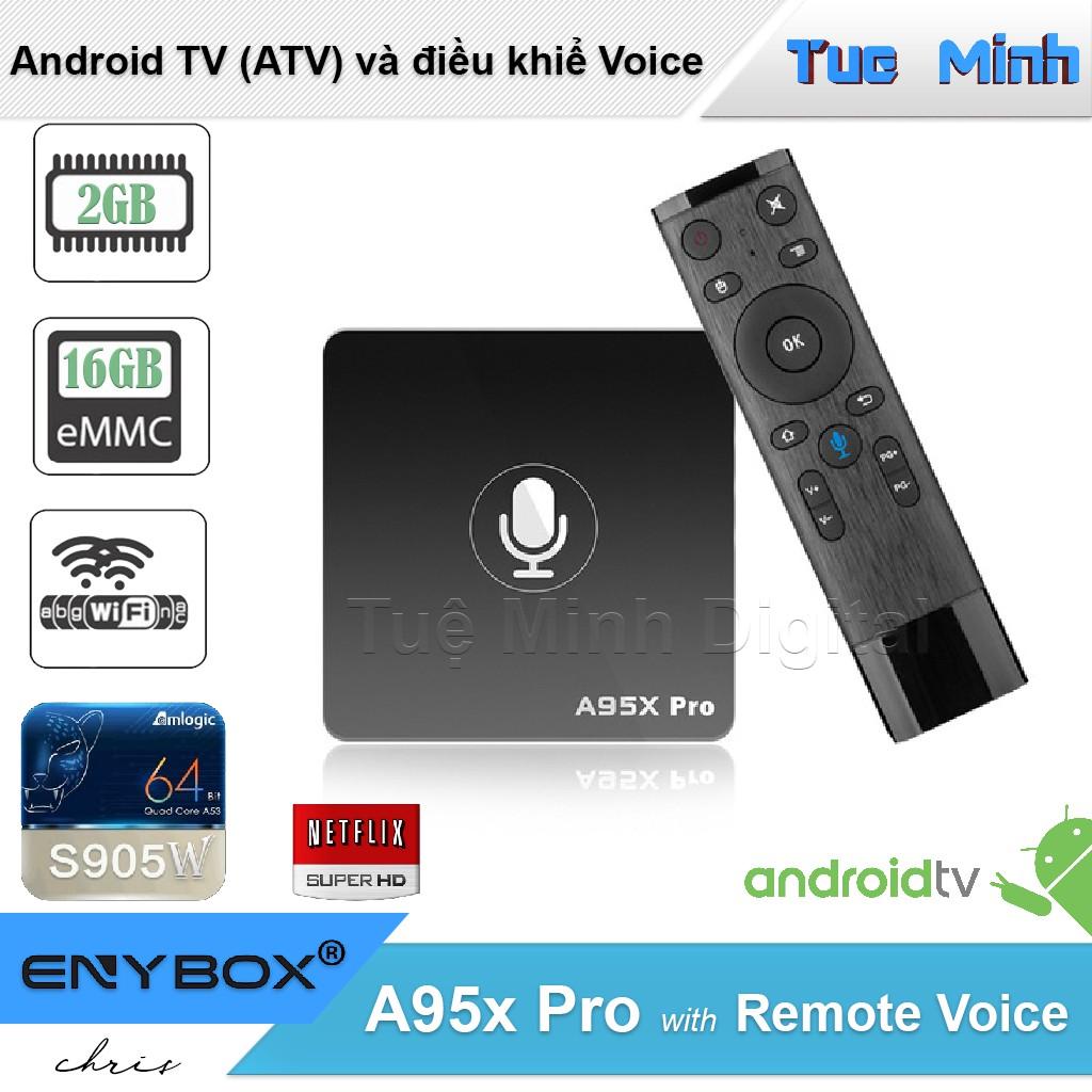 Android TV Box A95x Pro - AndroidTV OS, Điều khiển Voice, Ram 2G, Flash  16G, CPU S905W | BetagoVn