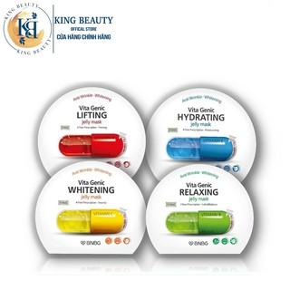 Combo Mix 10 Mặt nạ giấy cấp ẩm dưỡng trắng BNBG Vita Genic Jelly Mask 30ml x10 (Lifting,Whitening, Relaxing, Hydrating)