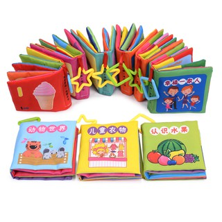 Baby Kids Education Soft Cloth Books Early Learning Toys