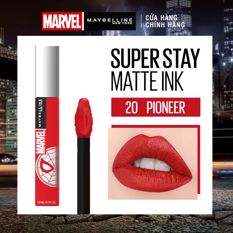 Bộ trang điểm siêu phẩm giới hạn Marvel Maybelline 6 món (Son kem lì, che khuyết điểm, và mascara) + Tặng chuột Logitech