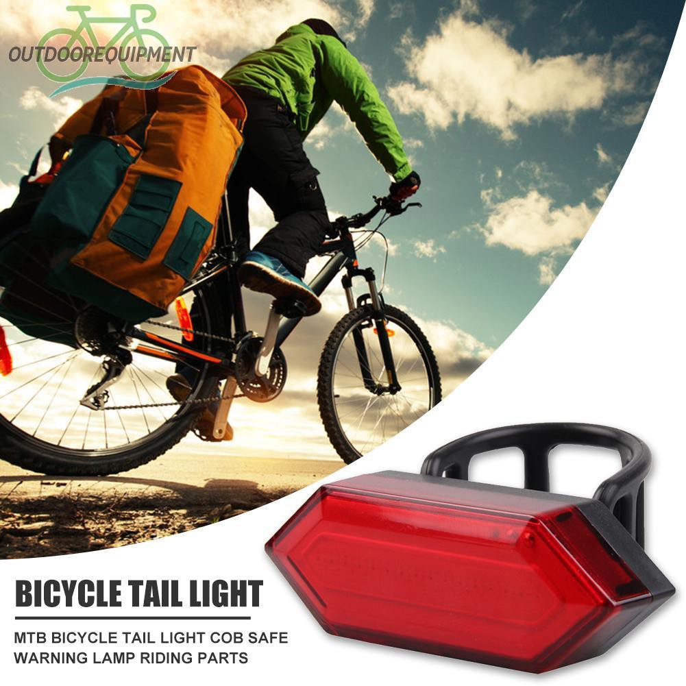 ♧USB Rechargeable MTB Bicycle Tail Light COB Safety Warning Lamp for Riding Parts♧