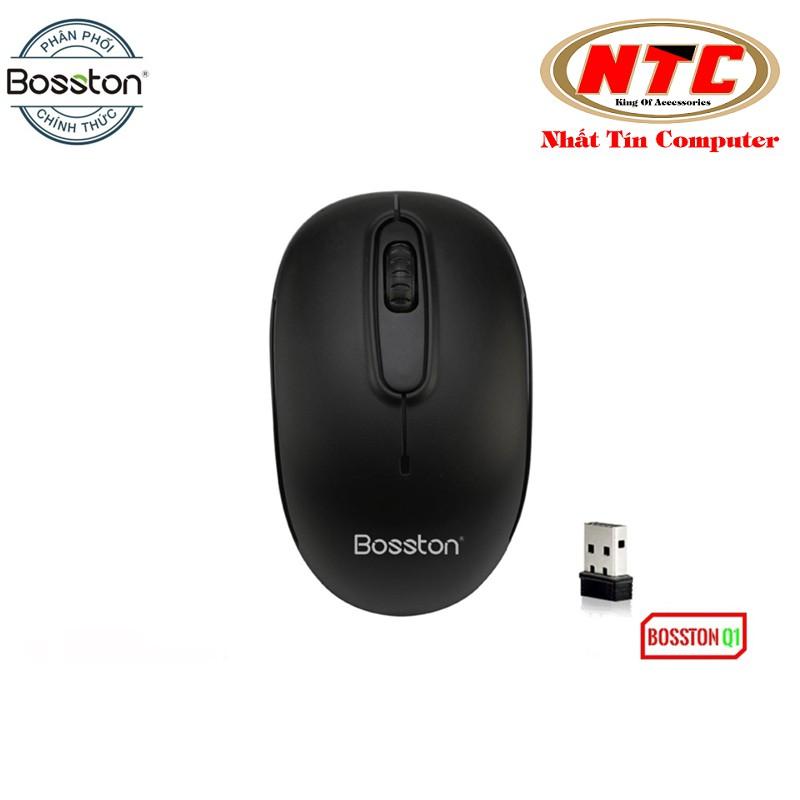Chuột không dây Wireless Bosston Q1 + tặng kèm pin