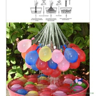 37pcs Water Balloons Bunch Filled with Water Latex Balloon Rapid Injection Game Toys