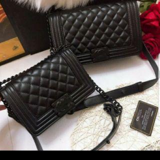 Túi ô trám đen size 20 , size 25 _có code,thẻ hãng ,túi vải hãng