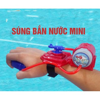 Súng Phun Nước Đồ Chơi Kiểu Người Nhện - Súng bắn nước đeo cổ tay mini thumbnail