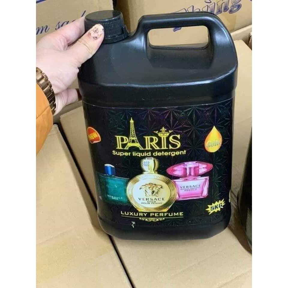 [Mã HC2703 giảm 8% đơn 400K] Nước giặt Paris hương nước hoa can 5 lít tặng kèm 1 chai bé 100ml dùng thử.