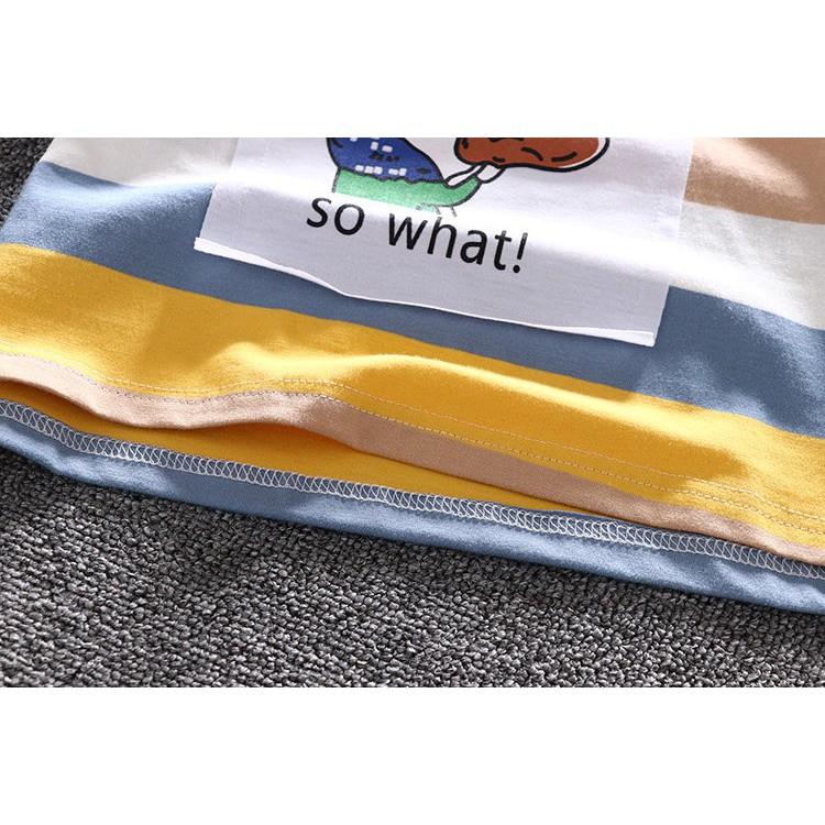 Áo Cộc Tay Kẻ Nhiều Màu Cotton 100% Hè 2021 Cho Bé Trai Và Bé Gái Từ 6Kg Đến 28Kg Spack NaNa Store
