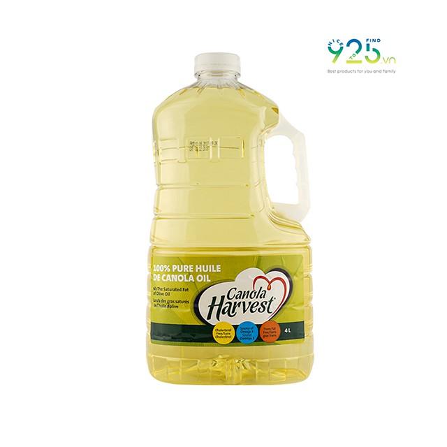 Dầu hạt cải nguyên chất Canola Harvest dung tích 4L