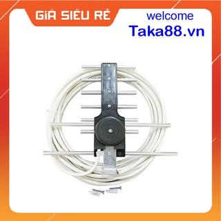 Anten, giàn anten tivi thông minh [THU SÓNG DVB T2] kèm dây 12m-15m
