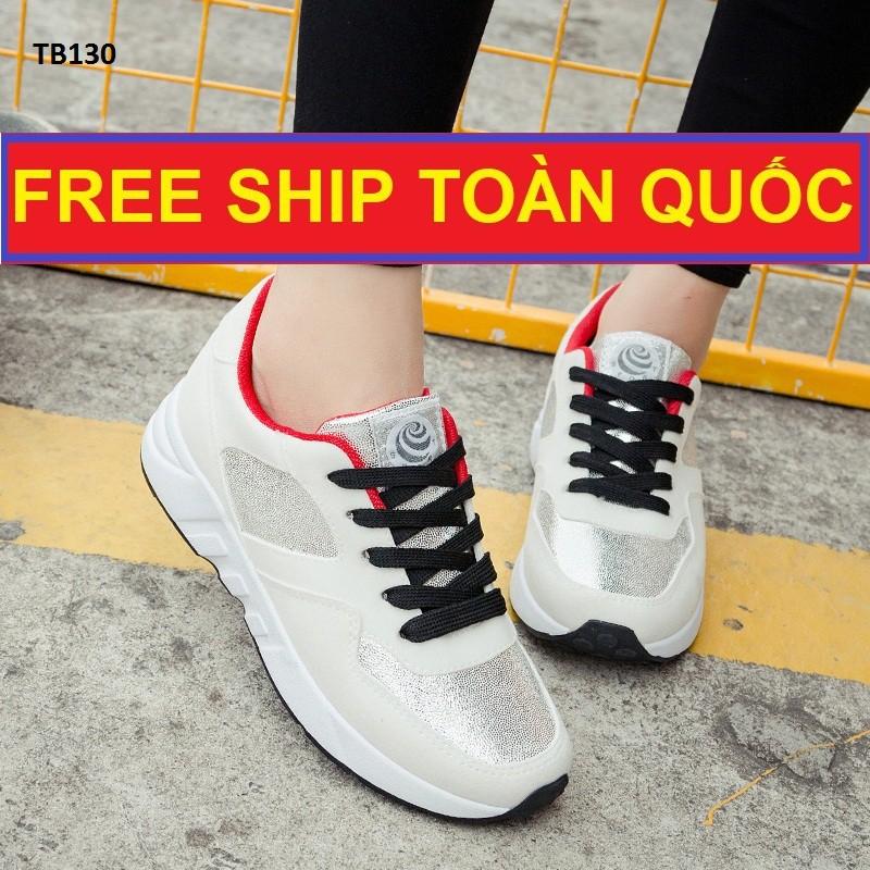 Xả Kho Giày Sneakers Trắng, Free Ship Toàn