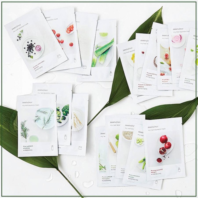 (Mẫu mới) Lẻ miếng mặt nạ giấy Innisfree My Real Squeeze Mask
